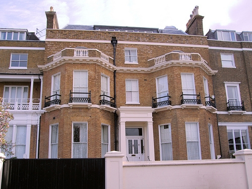 Mick Jagger's Former House, Richmond Hill, London.